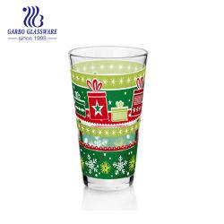 11oz Hochwertige V-Form Weihnachten Design Trinkglas Tassen Für Wasser Glas Trinkbecher Saft Trinken Geschirr Geschenkdekoration