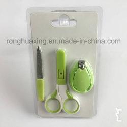 3PCS детский маникюр лак для ногтей ножницы с двойной пакет карт в блистерной упаковке