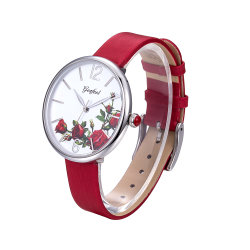 사용자 지정 로고 큰 문자반 아름다운 일본식 움직임 스테인리스 스틸 시계 여성용
