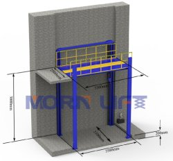 4 de post Hydraulische die Lift van de Auto voor het Parkeerterrein van de Apparatuur van de Garage van de Auto in Mezzanine en Schacht 2m 4m 6m 10m 20m Hoogte wordt geïnstalleerdi