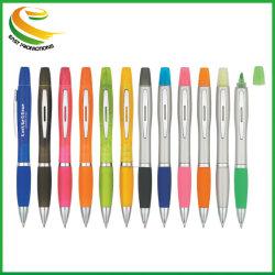 Double côté stylo à bille personnalisé de plume Mettez en surbrillance pour le Bureau et l'école