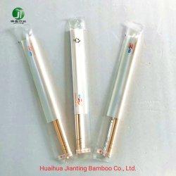 Het Verpakkende Plastiek van af:drukken met de Eetstokjes van het Bamboe van het Embleem van de Klant voor Restaurant