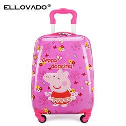 2019 Carro de alta calidad de los niños Cartoon bolsas de equipaje de viaje
