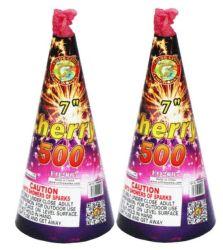 """7つの""""チェリー500の噴水の花火(FO2007)"""