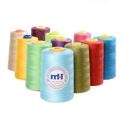 La Chine fabricant machine à coudre Overlocking blanc brut filés de polyester 5000 Les cônes de triage de gros de filetage