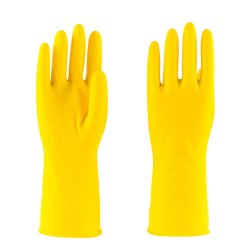guanti di funzionamento di sicurezza 30g della famiglia della gomma impermeabile gialla del lattice