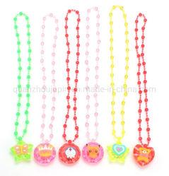 Oem Acrylic Shining Unisex Children Toy Led Light Necklace