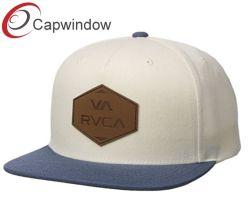 Doté de 5 Panel Cap Snapback/Hat avec Patch en cuir véritable sur l'avant