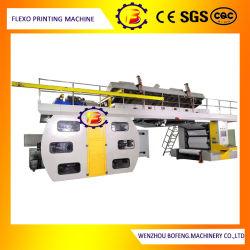 Ec 6 couleurs POLY BAG/papier/PE/BOPP/sac non tissé/Flexo Impression flexographique avec de bons d'enregistrement de la machine