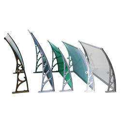 Auvent de 3mm montage mural Feuille de polycarbonate solide couvrant en plastique du toit de bras