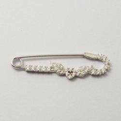 Brooch sterlina del nastro dei monili di modo con il regalo cubico di Zirconia per i capretti/ragazze/donne