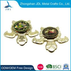 중국 제조자 승진 주문 기념 사기질 육군 해군 오래된 왕 박하 금속 기술 앙티크 기념품 금 군은 은 경찰 도전 동전을 수여한다