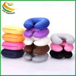 Commerce de gros PVC forme en U Microbilles oreiller gonflable du cou de voyage