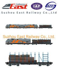 60t de carga ferroviaria fiable General vagón para el transporte de madera plana