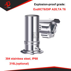 Pi68 304 316L à prova de explosão 1080P 2MP PTZ 20X Câmara IP da rede do fornecedor de câmara CCTV