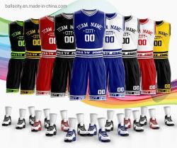 Fabricant de vêtements de sport de basket-ball de sublimation réversible maillots personnalisés