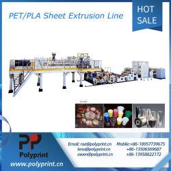 Pet/PLAシートの放出およびプラスチック製品のThermoforming機械ライン