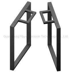 Muebles modernos de acero inoxidable de la Oficina Industrial cuadrado negro Escritorio piernas