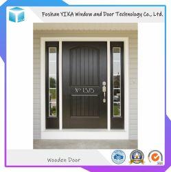 Porta de madeira de teca sólida entrada frontal porta dupla para Villa