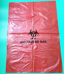 Plastique HDPE personnalisé Biohazard sac de déchets infectieux médicaux jetables