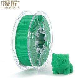 1.75mm 3D Gloeidraad van de Druk van de Gloeidraad van de Kwaliteit PLA van de Gloeidraad van de Printer Groene 3D PLA+