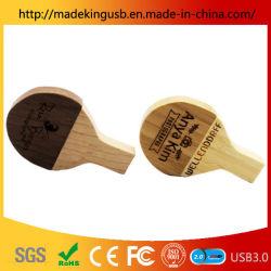 Raqueta de Tenis de mesa de madera U disco artesanía en madera de bambú unidad Flash USB/memoria USB