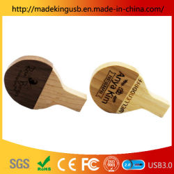 Houten Tafel Tennis Racket U Disk Bamboo Wood Crafts Usb Flash Drive / Usb Stick