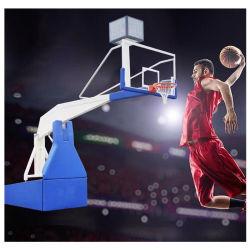 Obiettivo idraulico pieghevole di pallacanestro del basamento portatile dell'interno all'ingrosso di Fiba