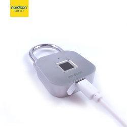 Segurança de nível alto cor de luz LED de carga USB Port Smart Cadeado de impressões digitais para uso de Viagem
