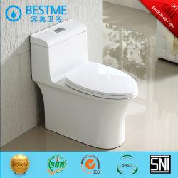 La porcelaine sanitaire Snow White luxueux Savingtoilet Siphonic un morceau de l'eau Wc ba-2047