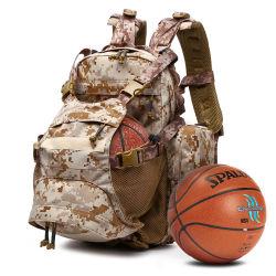 Mochila de camuflaje al aire libre el equipo de fútbol tenis multifunción casco de la bolsa de baloncesto