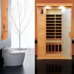 Sauna personal de la cicuta de carbón de madera y calefacción, sala de sauna infrarrojo lejano como terapia caliente Sauna Dome
