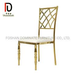 Banquetes de Boda Muebles de acero inoxidable el marco de metal sillas de comedor