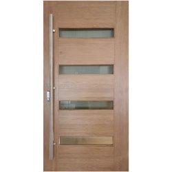 Высшего качества Kangton твердых шарнир из дуба деревянные двери / Наружная деревянная дверь / входная дверь с покрытием Anti-Weather