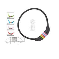 Het Slot van de Kabel van de Fiets van vijf Kleuren (hlk-055)