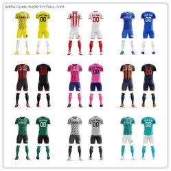 최신 디자인 새 모델 주문 승화 남자 캐주얼 셔츠 제복 고정되는 축구 저어지