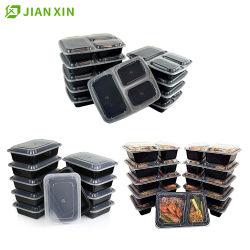 Ecológica para llevar comida de plástico desechables biodegradables de alimentos de preparación para el recipiente con tapa