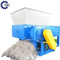 Pp.-PET-Belüftung-Rohr-Reißwolf-Abfall-Plastik, der die zerreißende Maschinen-Papier-grosser Klumpen-hölzerne einzelne Welle zerreißt Zerkleinerungsmaschine-Maschinerie in Rumänien aufbereitet