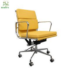 حديثة وقت فراغ صفراء [بو] جلد [سفتبد] مكتب كرسي تثبيت