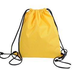 Il nylon del poliestere mette in mostra il sacchetto di Drawstring del sacco di ginnastica dello zaino per pallacanestro