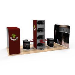 Feria exposición de la publicidad de tela reutilizables de tensión el stand de exposiciones de bastidor de aluminio modular personalizado