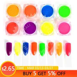 polvere fluorescente della polvere al neon del pigmento 1000g per la decorazione del manicure della polvere dei Sequins di arte del chiodo di pendenza di scintillio del chiodo dell'ombra della polvere del chiodo