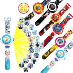 Karikatur-Muster-Digital-Kind-Uhr der Prinzessin-Spiderman Kids Watches Projection für Jungen-Mädchen LED-Bildschirmanzeige-Taktgeber Relogio