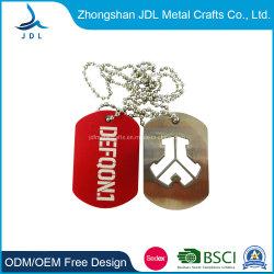 Diseño de moda de aleación de zinc de metal personalizados pintados de color Dog Tag multifuncional con la larga cadena de metal personalizados Xvideos plástico Grabado Grabado de silicona Dog Tag