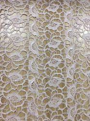 Último projeto Bordados Guipure Lace Rendas de tecido para tecido vestidos de casamento