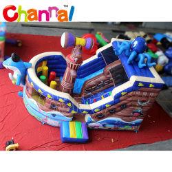 Nova chegada Tubarão Insuflável Pirate deslize para crianças