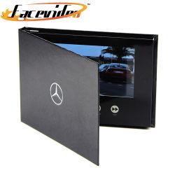 자동차 쇼를 위한 상한 주문을 받아서 만들어진 서류상 인사장 7 인치 HD LCD 디스플레이 두꺼운 표지의 책 선물 영상 브로셔 봉투 비디오 카드 상자