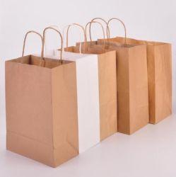 Recurso de recicláveis Kraft Saco alimentar papel craft Tote Shopping Dom Bag
