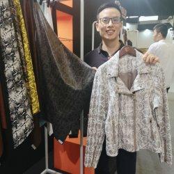 Новая конструкция змеиной кожи PU синтетическая кожа для одежды куртка нанесите на процессе принятия решений