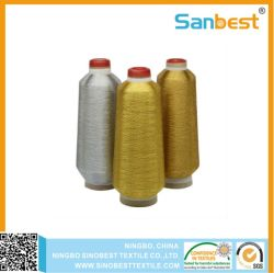 150D/1 Metallic Stickerei Faden mit Polyester oder Rayon Kern Garn